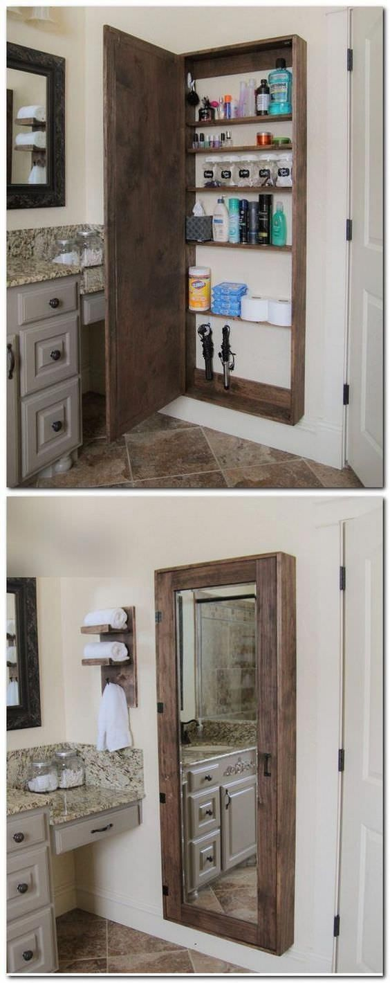 17 Pallet Projects You Can Make for Your Bathroom Shelves & Coat Hangers #HomeDe...