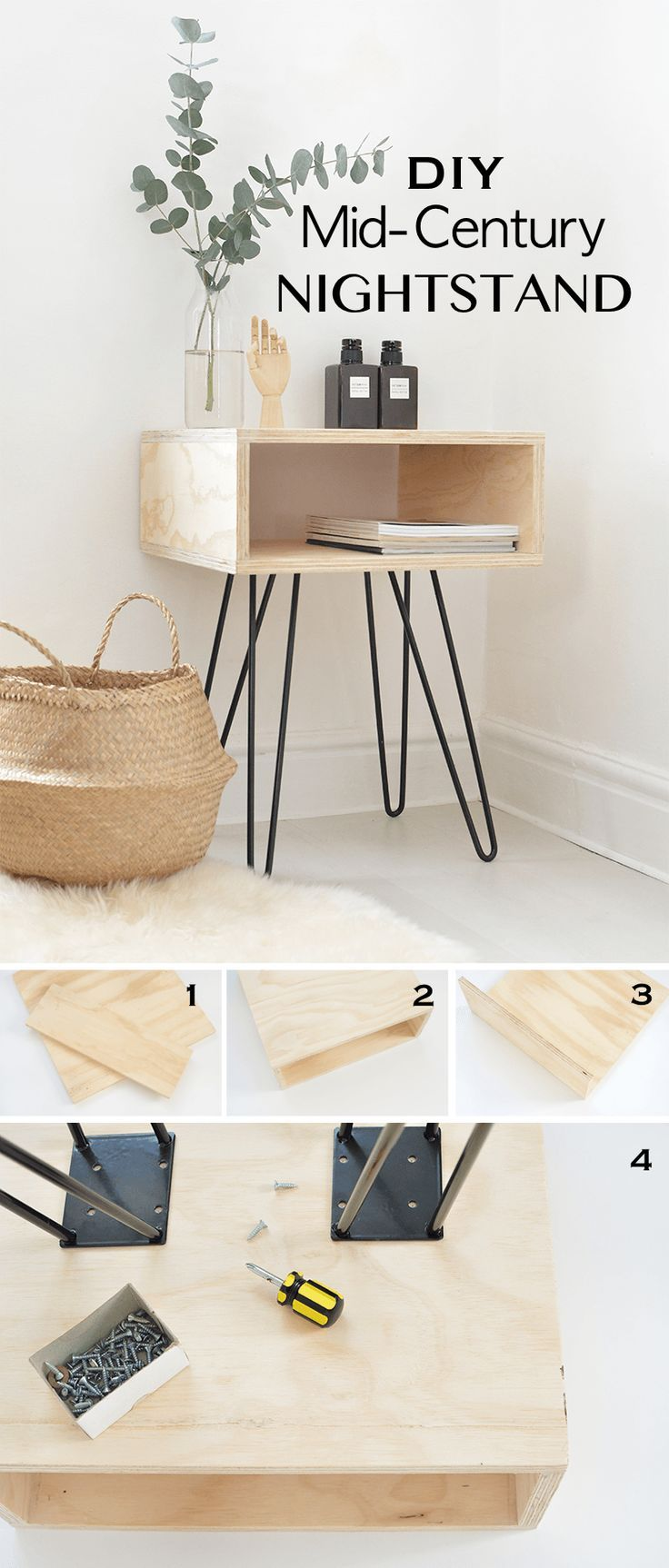 15 Simple DIY Tables That You Can Build Yourself - Living Room - #Building #Di ...