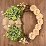 Wreath, rustic wreath, hydrangea wreath, custom wreath, front door wreath, autumn wreath ...