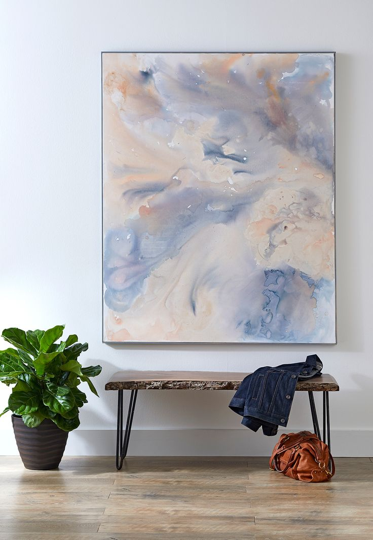 You don't have to be a professional painter to make this large-scale abstrac...