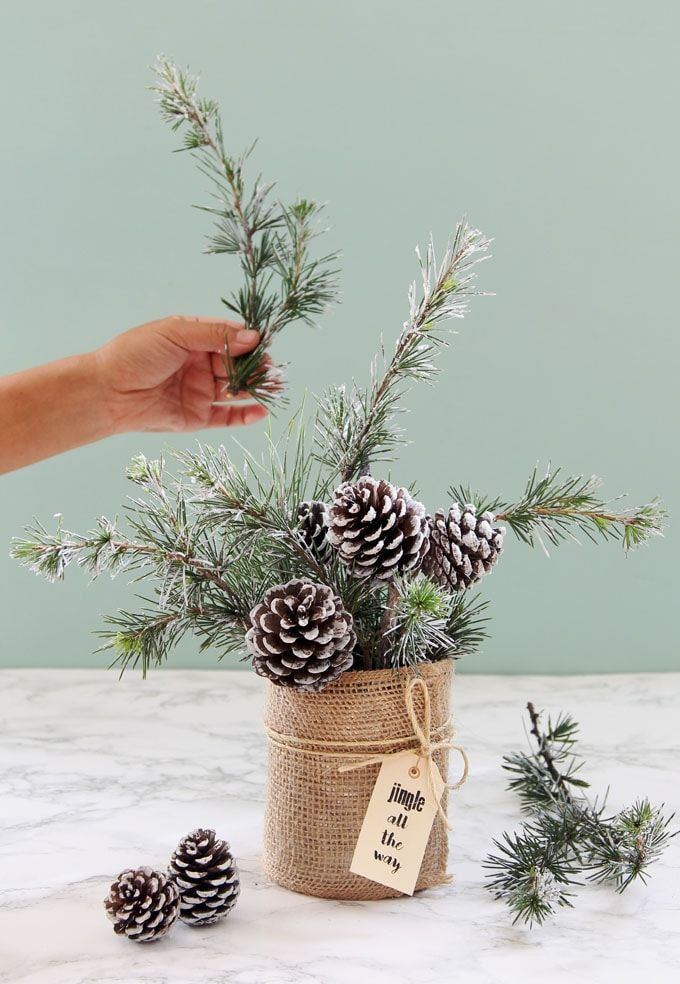Snowy Tree Winter & Christmas DIY Table Decoration {in 20 Minutes!} - A Piece Of...