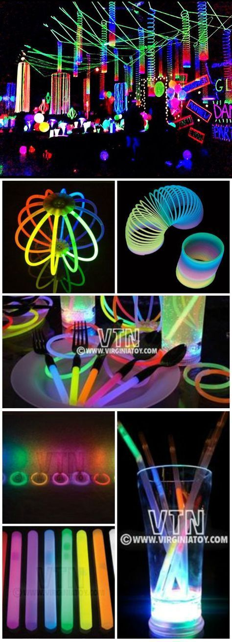 Glorious Glow Party! Glow-in-the-Dark Spooktacular Halloween Party Decorations &...