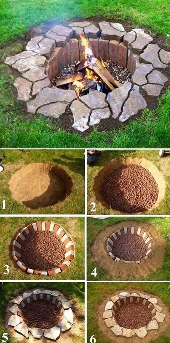 Rustic DIY Fire Pit, DIY Backyard Projects and Garden Ideas, Backyard DIY Ideas ...