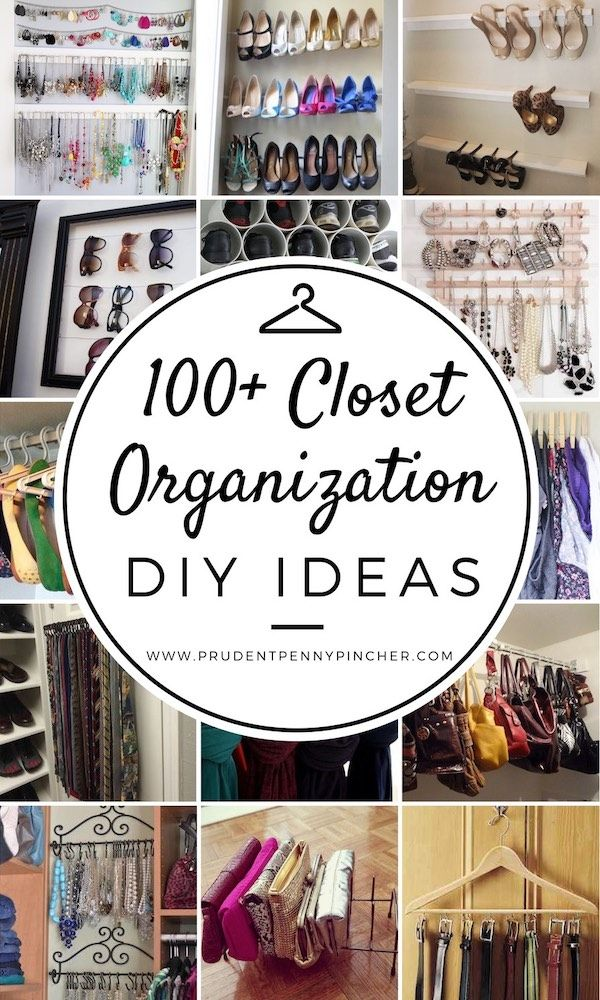 100 Closet Organization DIY Ideas #organization #diy #organizing #cleaning