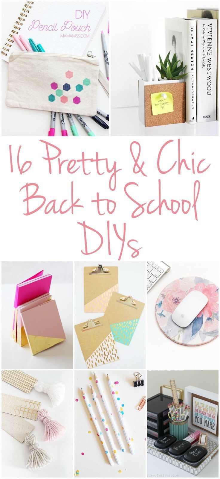 16 Pretty & Chic Back to School DIYs, home office organization, back to school c...