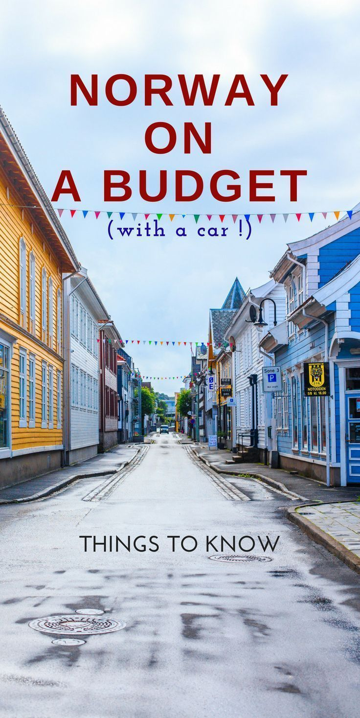 Visit Norway on a budget. Tips on how to travel Norway by car while saving money...