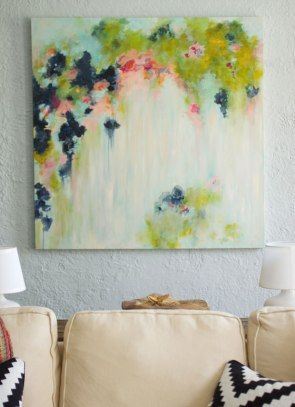 canvas painting ideas, wall art ideas, diy abstract canvas painting