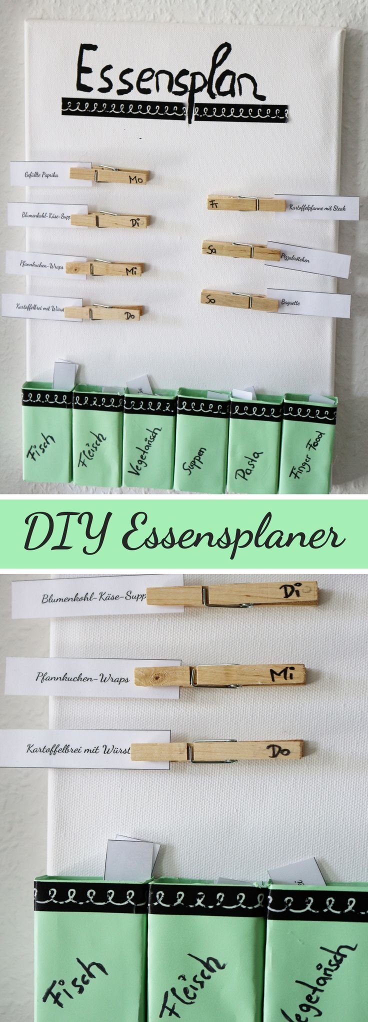 Creative food planner made by yourself | Tinker food planner | DIY household