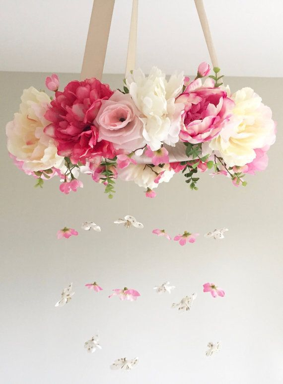 This is a listing for a flower mobile / floral chandelier in ... #a ...