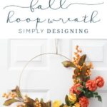 How to make a Fall Hoop Wreath - fall wreath - hoop wreath - diy wreath - diy fa...