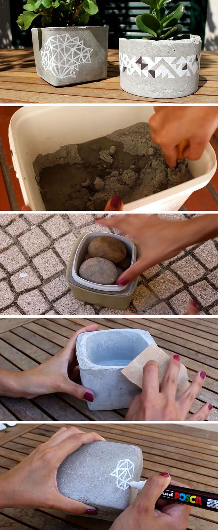 Create your own cheap DIY table top planters that are .....