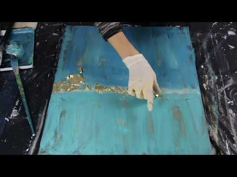 Painting with Acrylics - You Can Paint This Art Tutorial - Texture Medium Crackl...