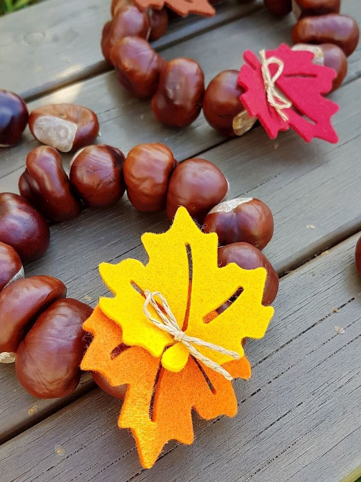 Autumn decoration: chestnut wreaths and other ideas - Kerstin and the Chaos