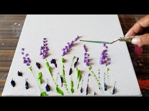 Lavender Field / Simple Floral / Abstract Painting Demonstration / Project 365 d...