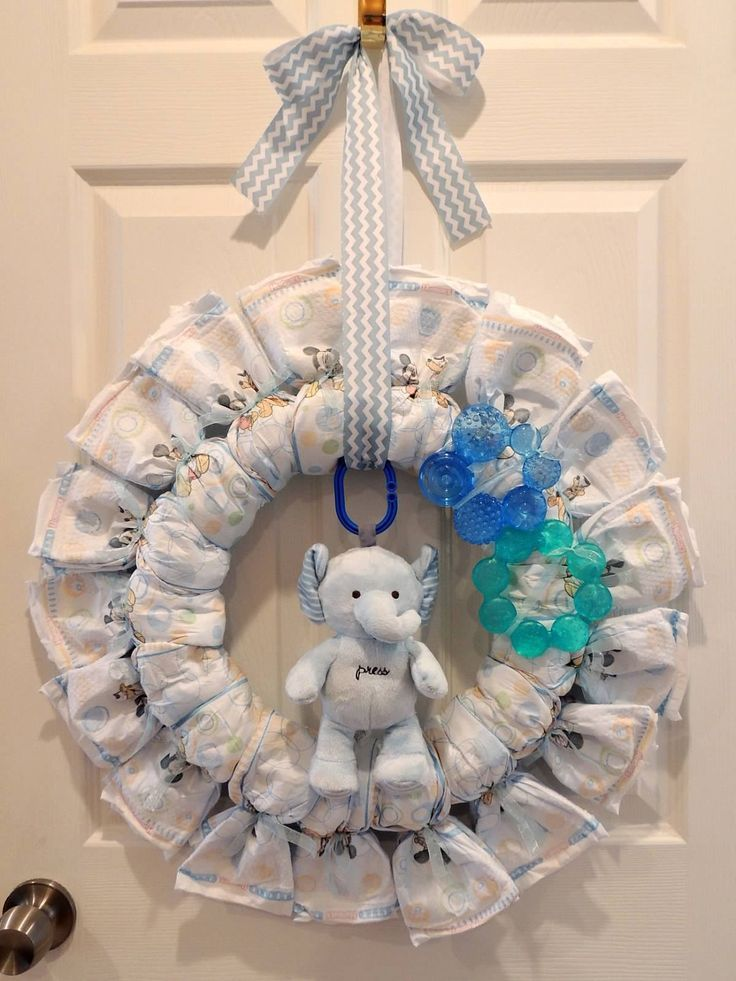 "Diaper Wreath! Baby boy ""Baby It's Cold Outside"" winter ...  #diaper #outside #w..."