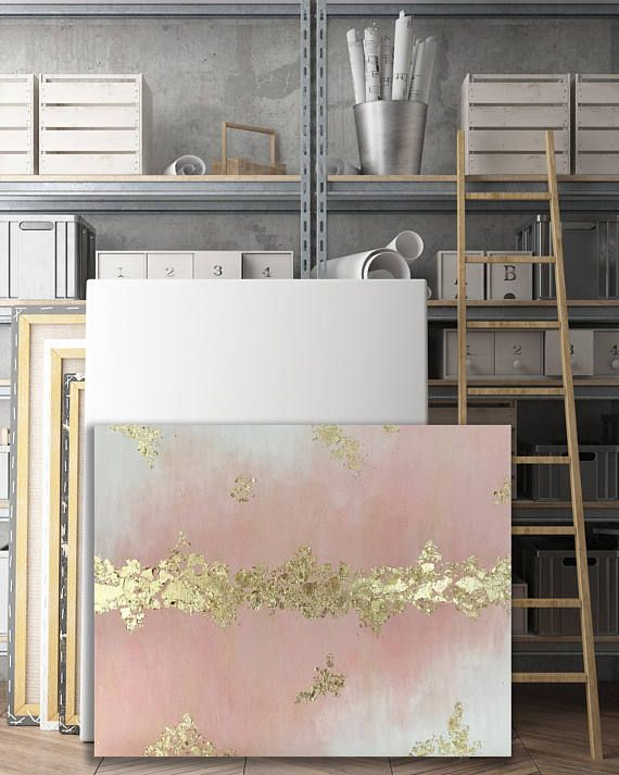 Customizable Gold Leaf Painting - Any colors, Silver or Gold Leaf 16x20, 18x24,2...