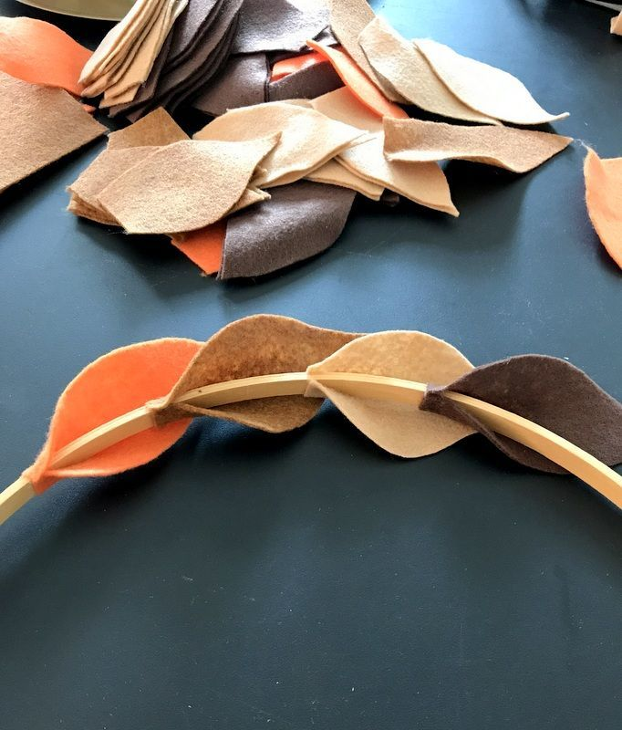 DIY Fall Felt Wreath - A simple step by step guide