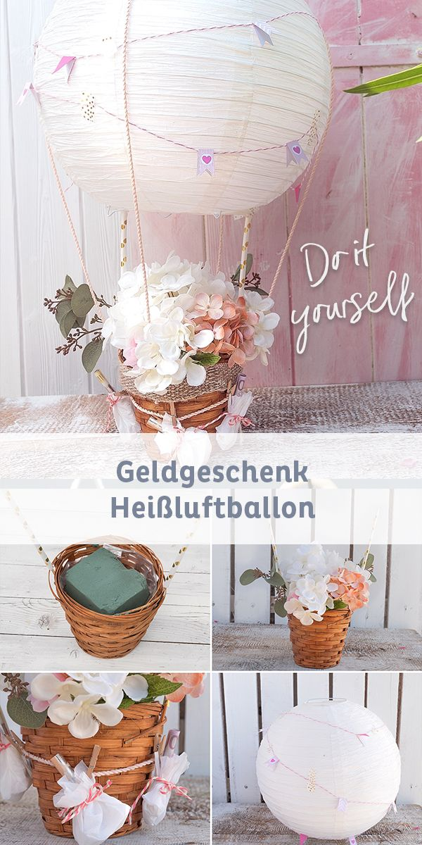 DIY hot air balloon as a monetary gift for weddings | The star at the wedding ...
