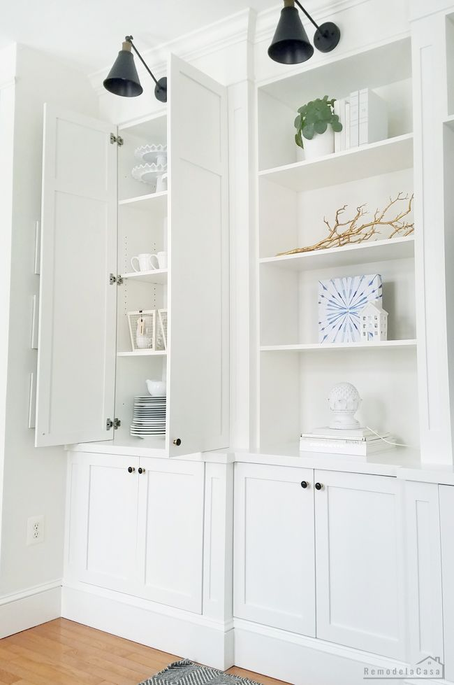 DIY - Built-ins with Fast Cabinet Doors  #diy #homedecor #remodel #cabinets #fam...