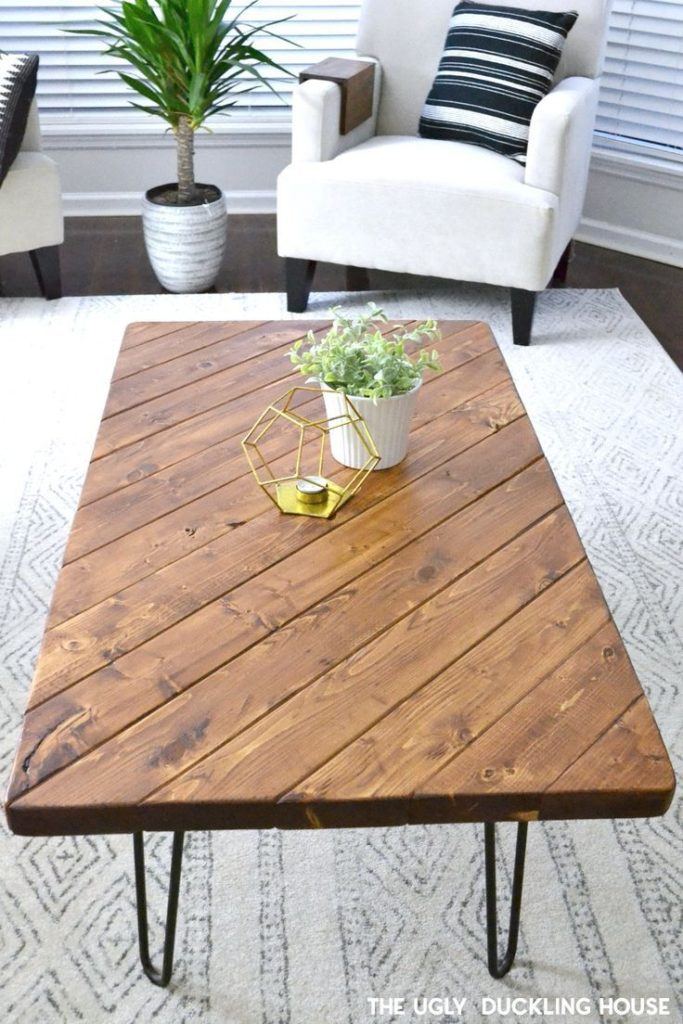 My 15-Minute DIY Hairpin Leg Coffee Table - Coffee Table - Ideas of Coffee Table...
