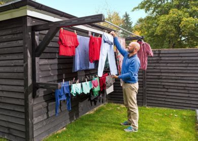 A bunch of clothesline ideas to help you pick the perfect clothesline. Save elec...