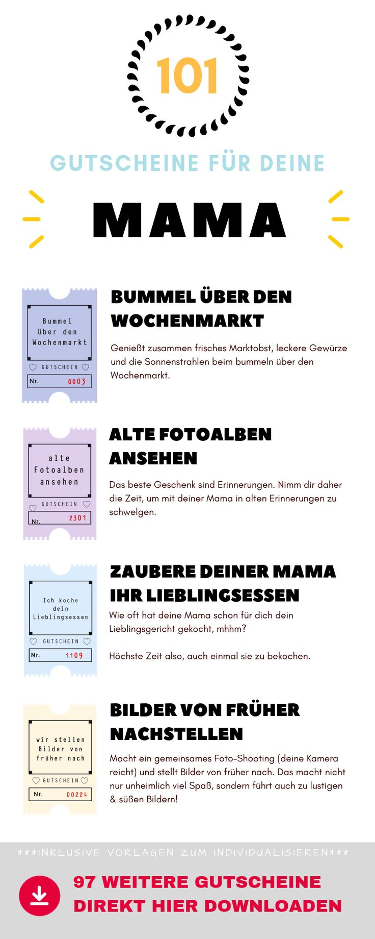 101 coupons for your mom - ideas, templates and tips for homemade ...