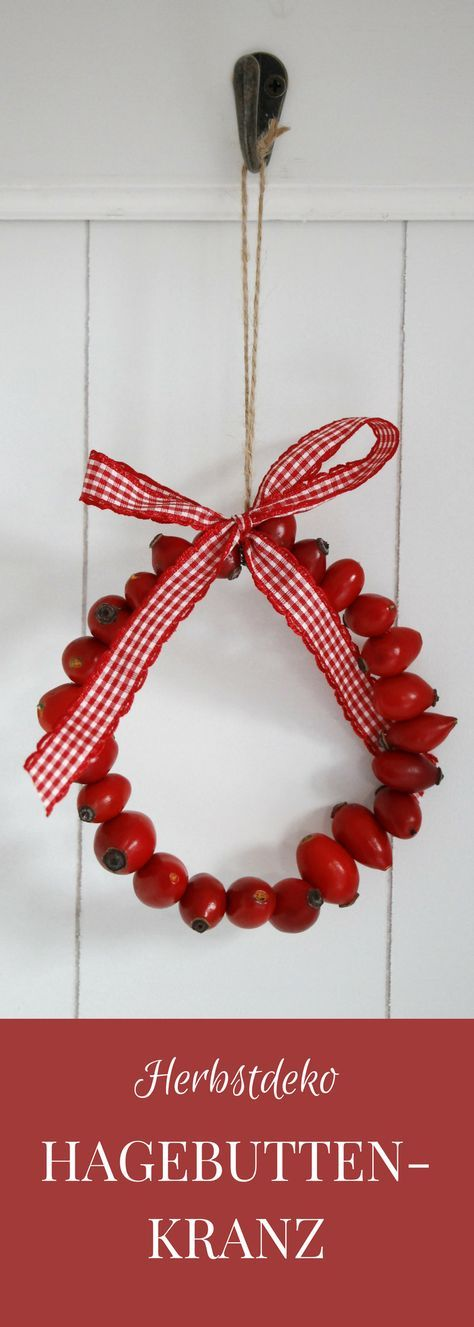 You can make fast autumn decorations with rosehips. For the rosehip wreath ...