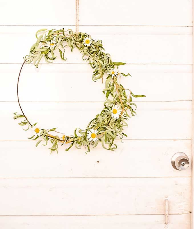 Floral Hoop Wreath DIY |Fall Wreath|kids crafts|farmhouse wreath|farmhouse wall ...