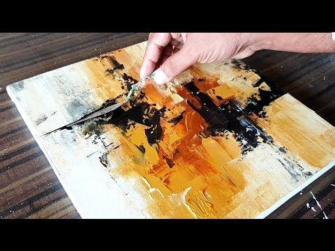 Abstract Painting in Acrylics / Just using Palette knife / Demonstration...