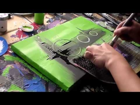Acrylic abstract painting / Speed Painting / Inspiration by Roxer Vidal - YouTub...