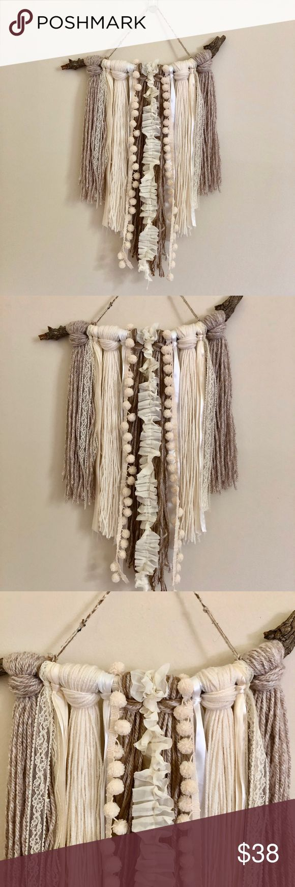 Bohemian Wall Hanger Art Bohemian, nature inspired wall hanger, is a slightly tw...