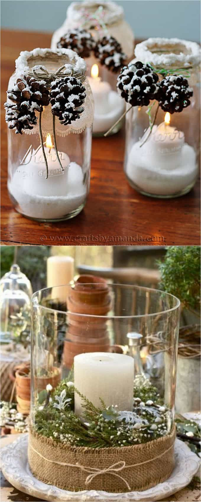 27 Beautiful & Simple DIY Thanksgiving and Christmas Table Decorations - #am ...