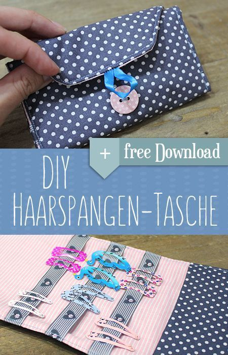 DIY hair clips bag. Super solution for hair clips. Simply homemade ...