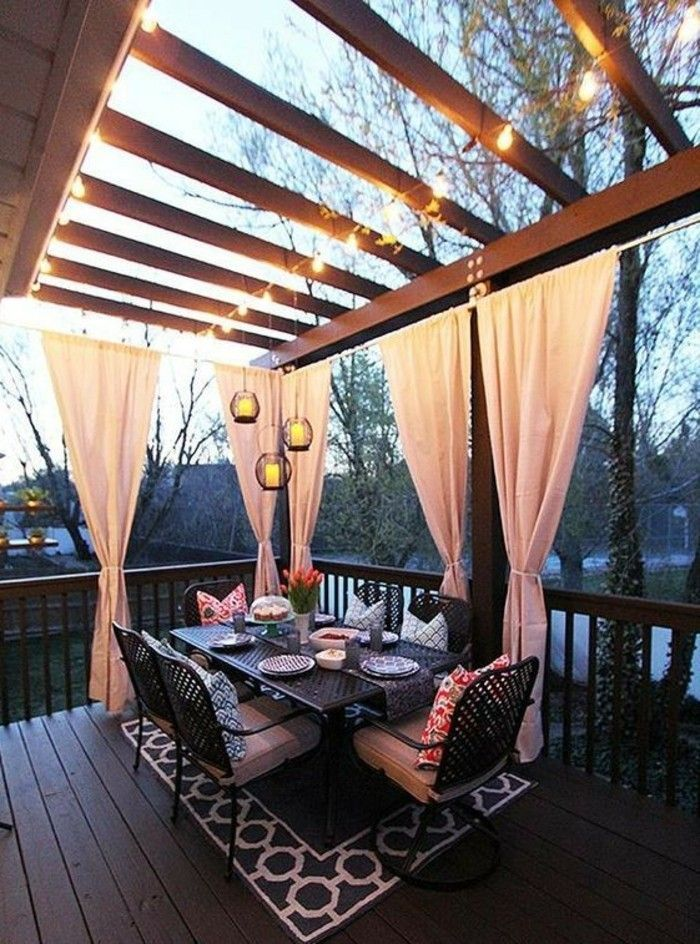 Screen protection for terrace and balcony - sitting outside hiding - #Balcony #Si ...