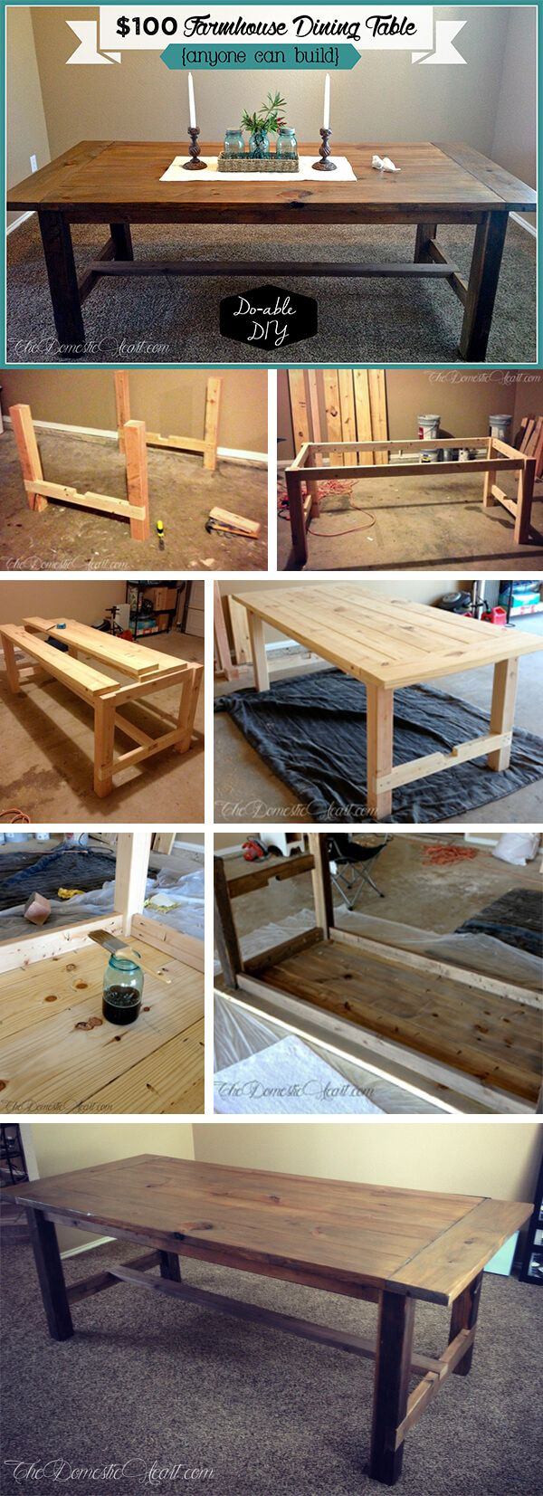 17 rustic DIY farmhouse table ideas to bring land into your home #bauer ...
