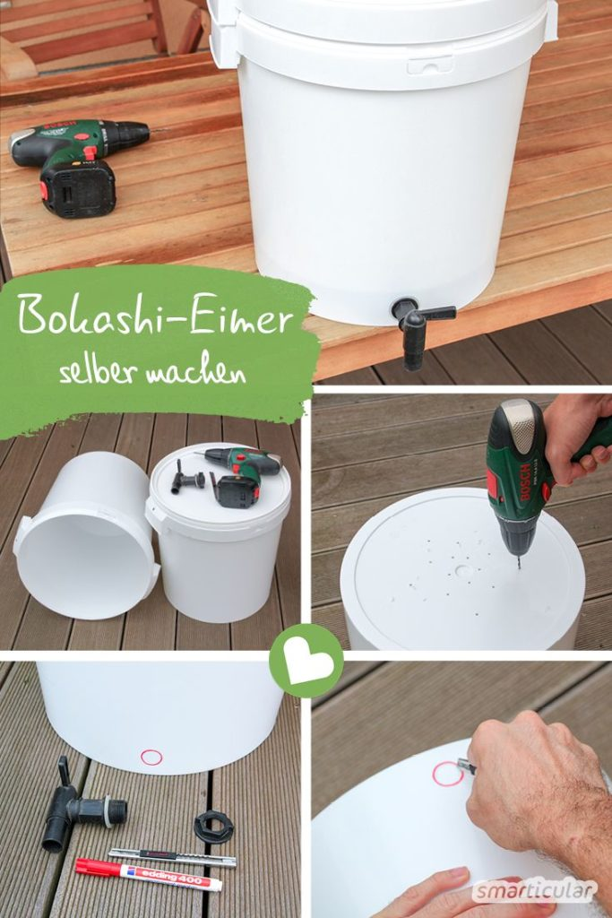 Build bokashi bucket yourself in 30 minutes