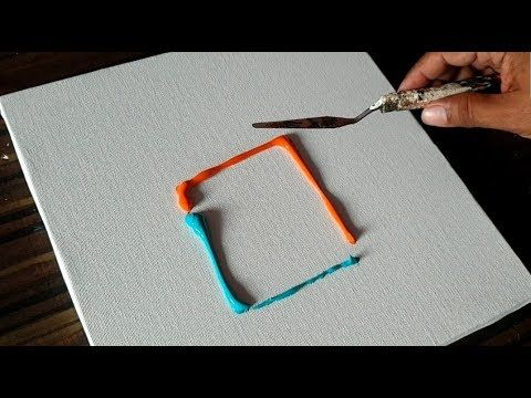 Easy Abstract Painting/Playing around with Acrylic Paints/Satisfying/Demo/Projec...