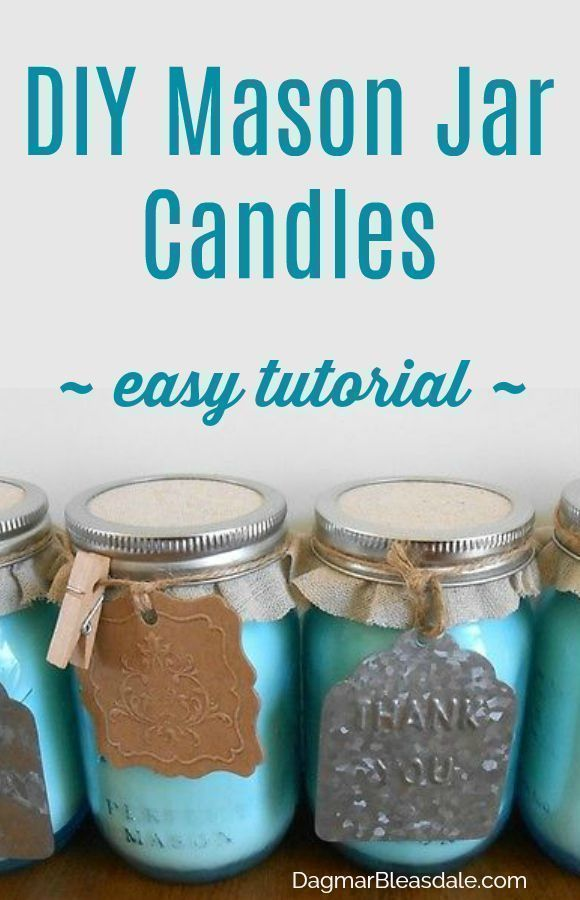 Make your own DIY mason jar candles - these make such a cute gift! Easy tutorial...
