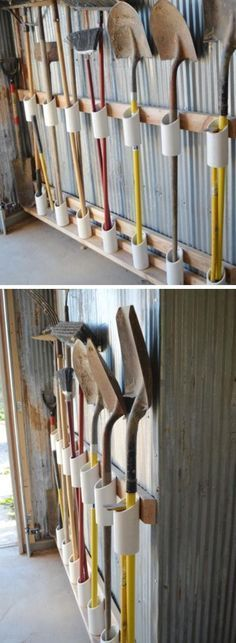 PVC Pipe Tool Storage | Easy Organization Ideas for the Home | DIY Garden Tool S...
