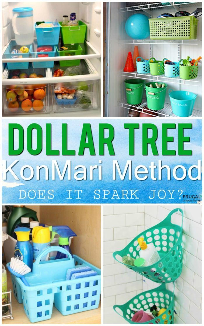KonMari Method Dollar Tree Organizing Ideas - Spark Joy with these tidying up ti...