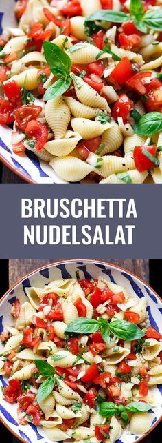 Bruschetta pasta salad. This 7-Ingredient Recipe is super easy and perfect for ...