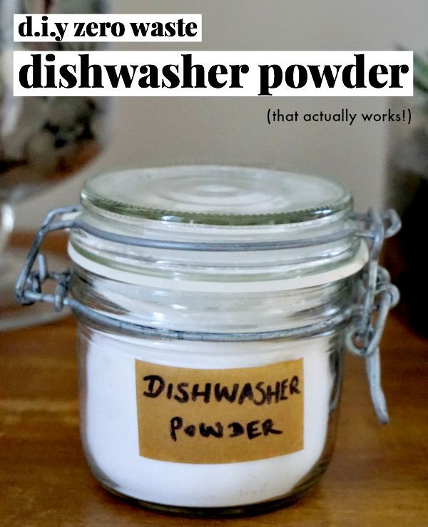zero waste diy recipe for dishwasher powder that actually works!