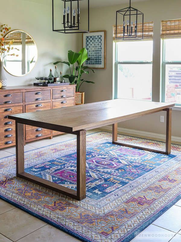 Modern DIY Dining Table | Dining Table Ideas