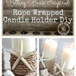 MAKING ROPE WRAPPED CANDLE HOLDER FROM GLASS GLASS #DIYGeschenke
