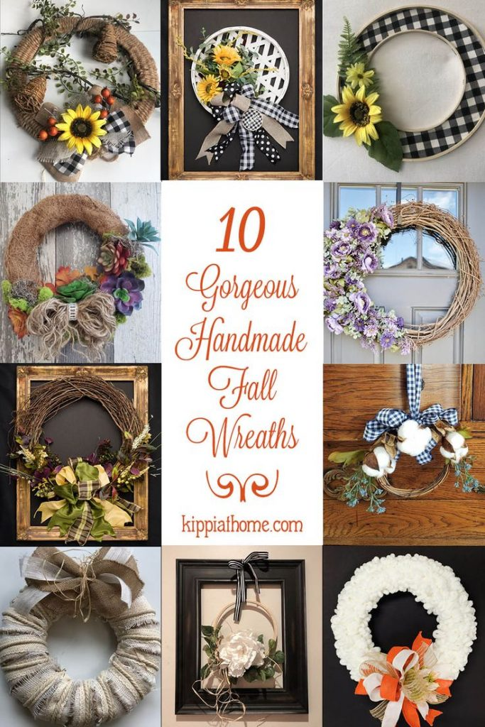 10 Gorgeous Fall Wreath Ideas for your fall decorating. Be inspired to create a ...