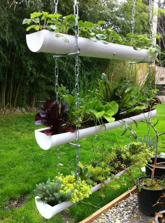 10 great ideas to recycle a gutter # ideas #recycle #regenrinne #t ...