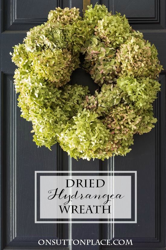 Dried Hydrangea Wreath Tutorial | Easy directions with pictures to make your own...