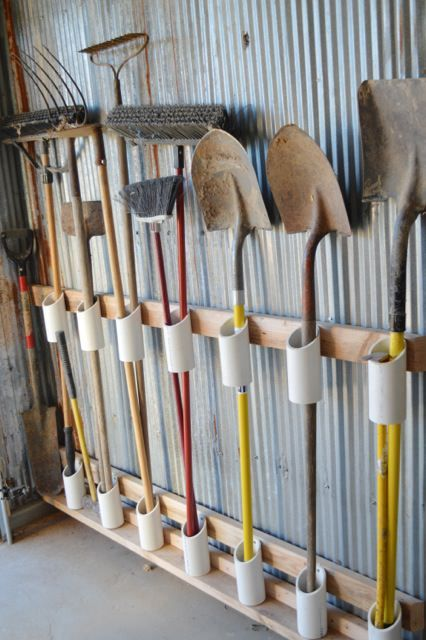 12 Garden Tool Racks That Can Make You Easy #garden # can #easy #make ...