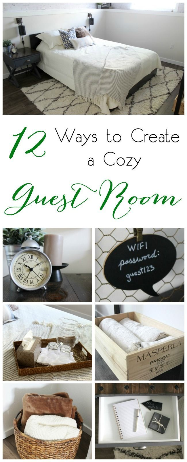 12 Ways to Create a Cozy Guest Room 12 great tips for taking your guest space to...