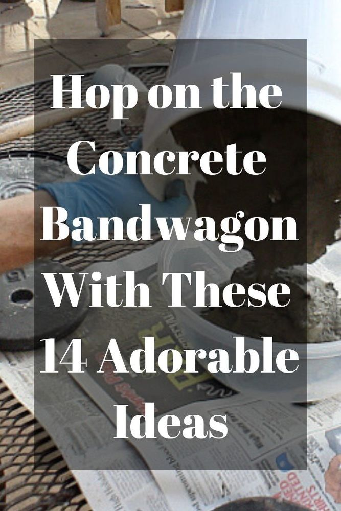 14 adorable concrete projects you're going to love! #hometalk #diy #concrte #cem...